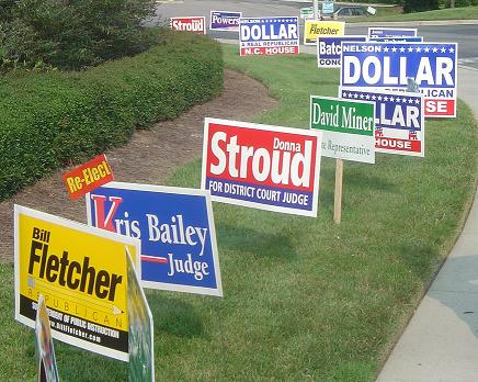 political campaign signs by liberty signs simpsonville fountain