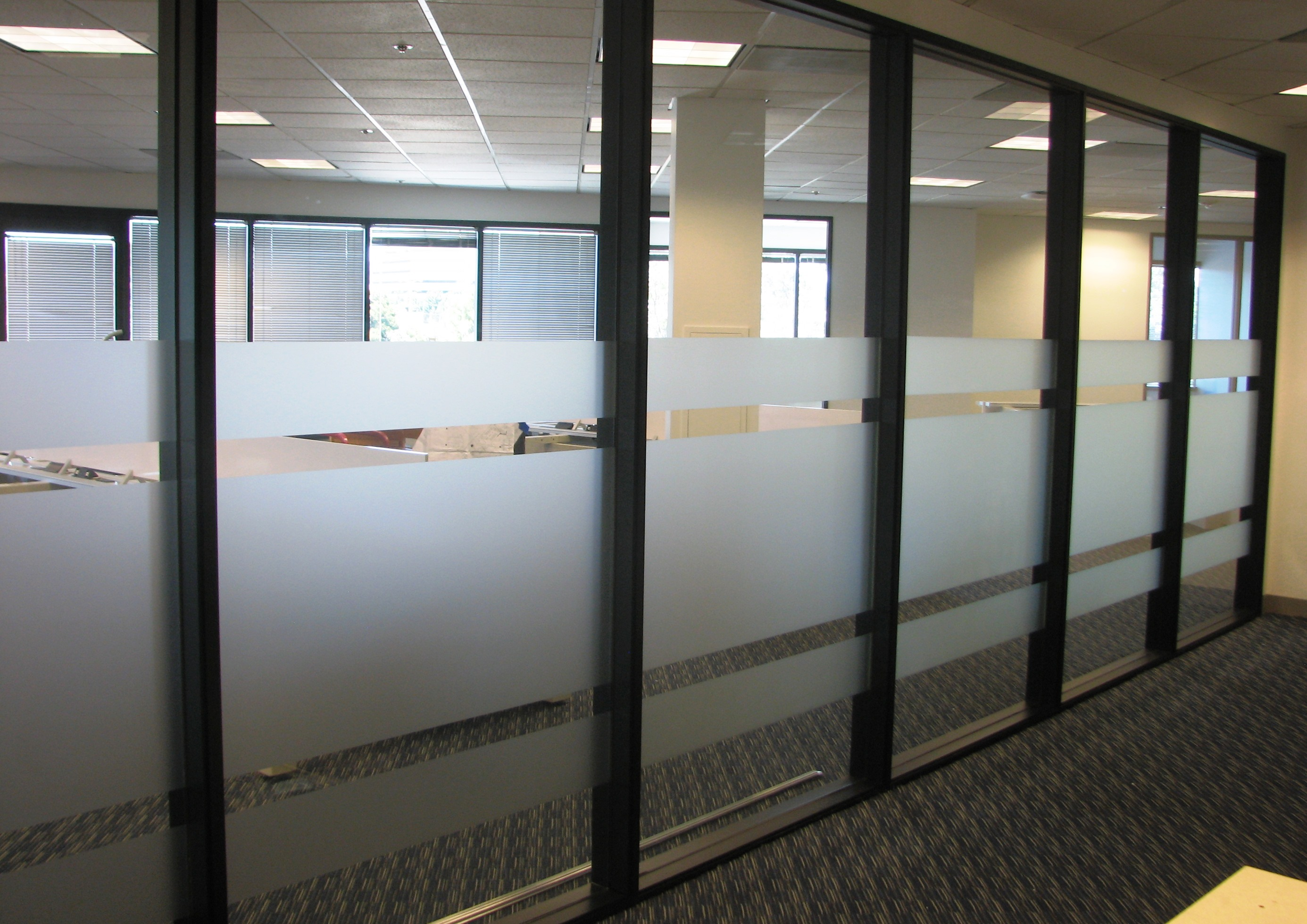 Black And White Office Glass Walls Boardroom